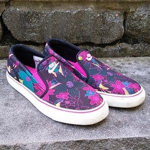 Nike Toki Aloha Floral Slip On Sneakers size 6.5
